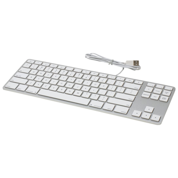 Product image of Matias Silver Wired Aluminium Tenkeyless Keyboard for Mac - Click for product page of Matias Silver Wired Aluminium Tenkeyless Keyboard for Mac