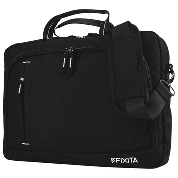 "Product image of Fixita Urban 15.6"" Black Messenger Notebook Bag - Click for product page of Fixita Urban 15.6"" Black Messenger Notebook Bag"