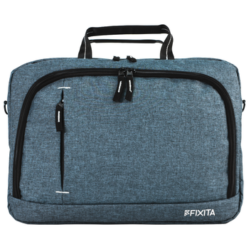 "Product image of Fixita Urban 15.6"" Grey Messenger Notebook Bag - Click for product page of Fixita Urban 15.6"" Grey Messenger Notebook Bag"
