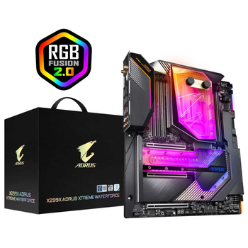 Product image of Gigabyte X299X Aorus Xtreme Waterforce E-ATX LGA2066 Desktop Motherboard - Click for product page of Gigabyte X299X Aorus Xtreme Waterforce E-ATX LGA2066 Desktop Motherboard