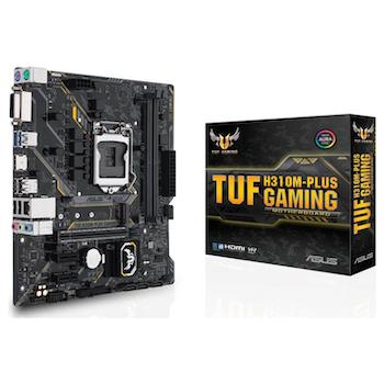 Product image of ASUS TUF H310M-PLUS Gaming R2 LGA1151-CL mATX Desktop Motherboard - Click for product page of ASUS TUF H310M-PLUS Gaming R2 LGA1151-CL mATX Desktop Motherboard
