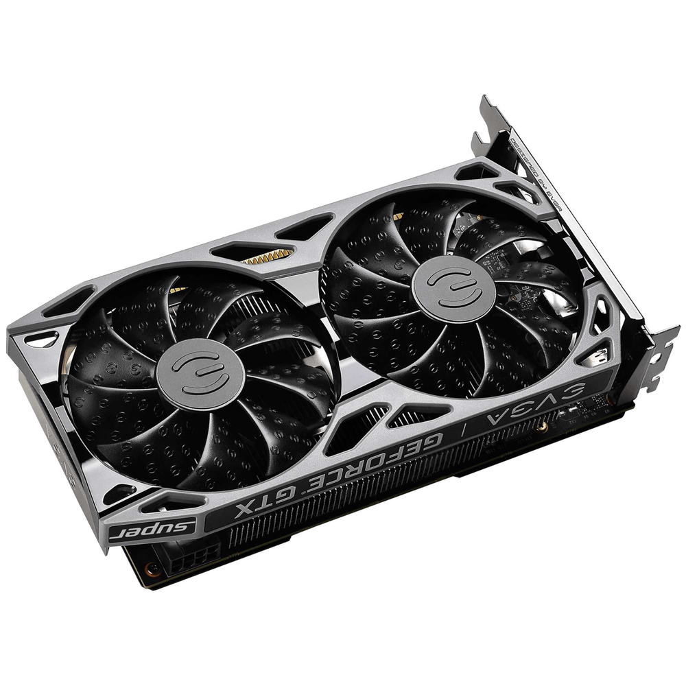 A large main feature product image of eVGA GeForce GTX1660 Super SC Ultra 6GB GDDR6