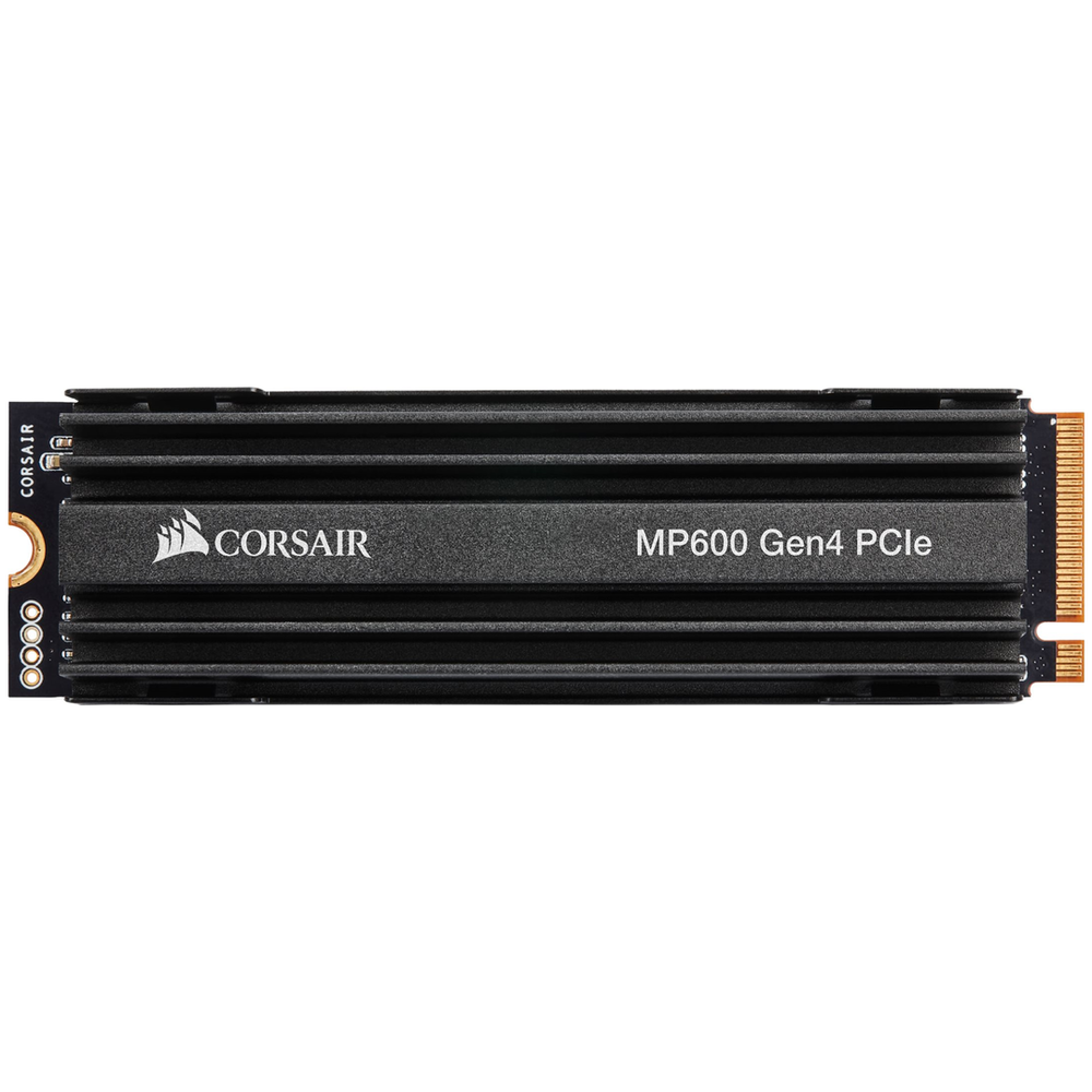 A large main feature product image of Corsair Force MP600 500GB Gen4 PCIe NVMe M.2 SSD
