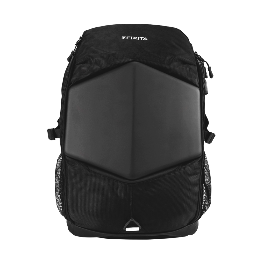 "A large main feature product image of Fixita Vast 17.3"" Black Notebook Backpack"