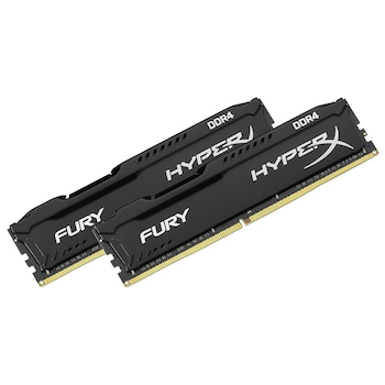 Product image of Kingston 16GB Kit (2x8GB) DDR4 HyperX Fury Black C16 3200MHz - Click for product page of Kingston 16GB Kit (2x8GB) DDR4 HyperX Fury Black C16 3200MHz