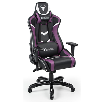 Product image of EX-DEMO BattleBull Commander Gaming Chair Black/Purple/White - Click for product page of EX-DEMO BattleBull Commander Gaming Chair Black/Purple/White