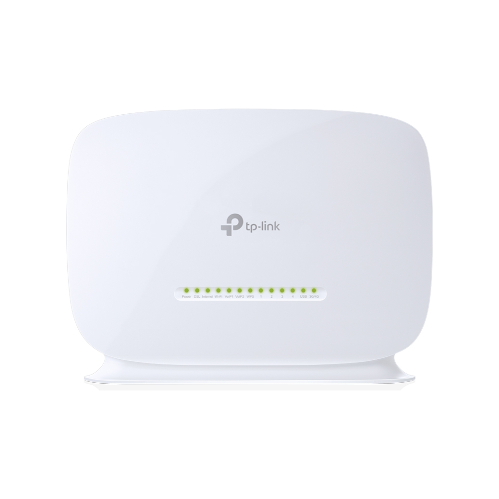 A large main feature product image of TP-Link VN020-F2v 300Mbps Wireless N VoIP VDSL/ADSL Modem Router