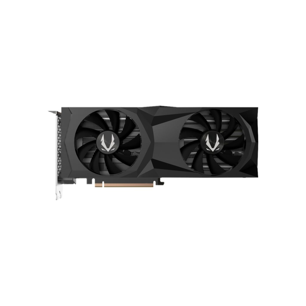 A large main feature product image of ZOTAC GAMING Geforce RTX2060 Super AMP 8GB GDDR6