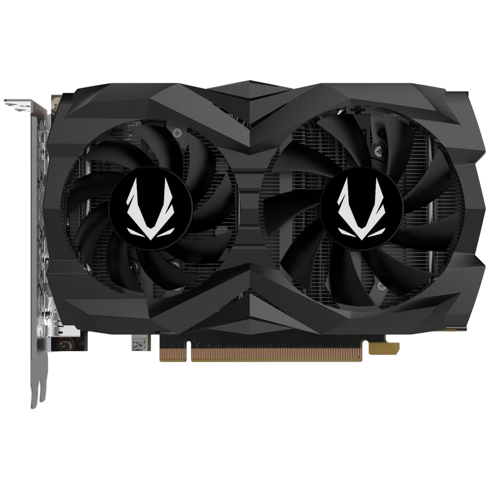 A large main feature product image of ZOTAC GAMING GeForce GTX1660 6GB GDDR5