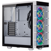 A product image of Corsair iCue 465X RGB Smart White Mid Tower Case