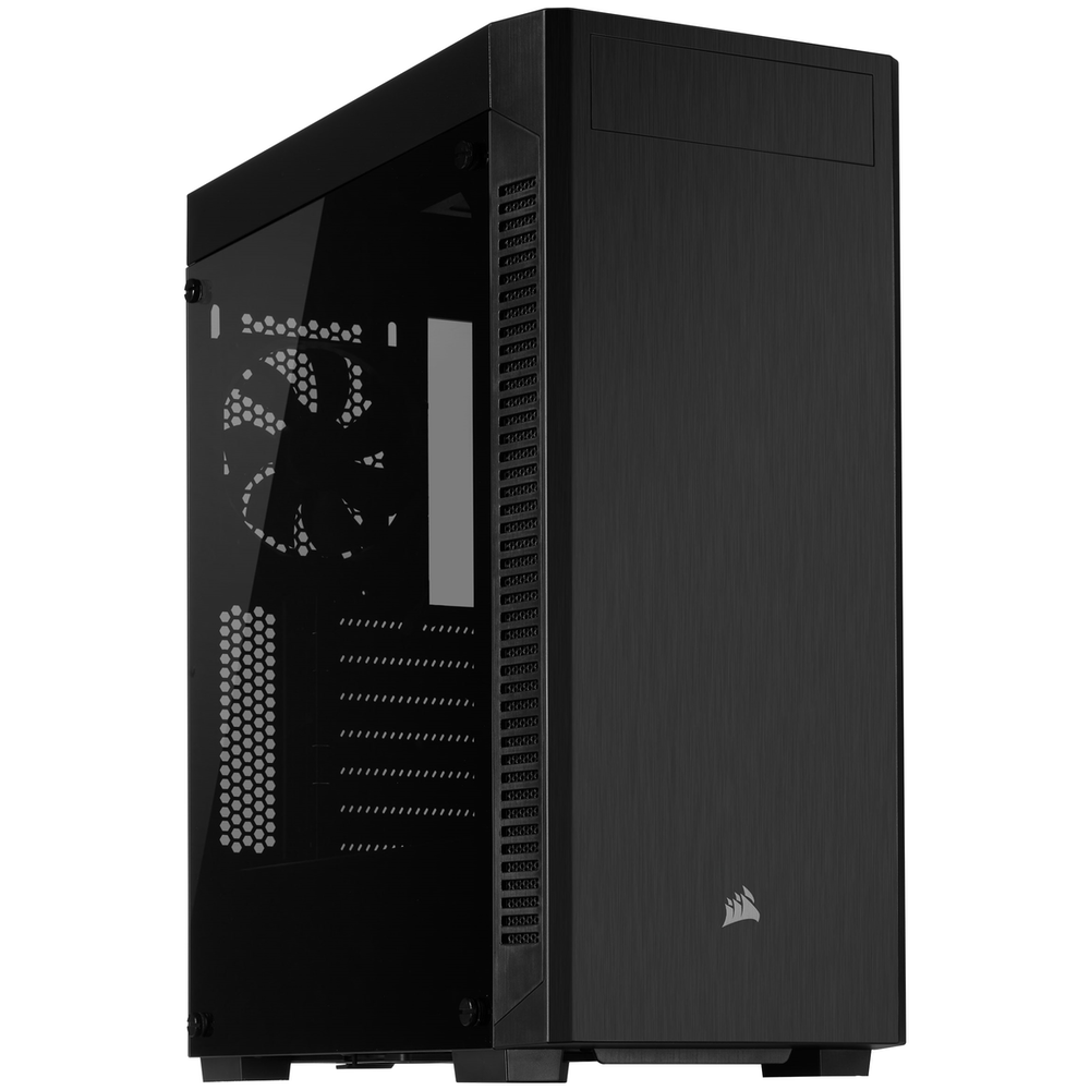 A large main feature product image of Corsair 110R Tempered Glass Mid-Tower ATX Case