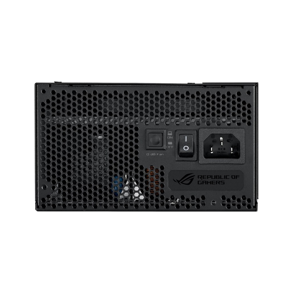A large main feature product image of ASUS ROG Strix 750W 80PLUS Gold Modular Power Supply