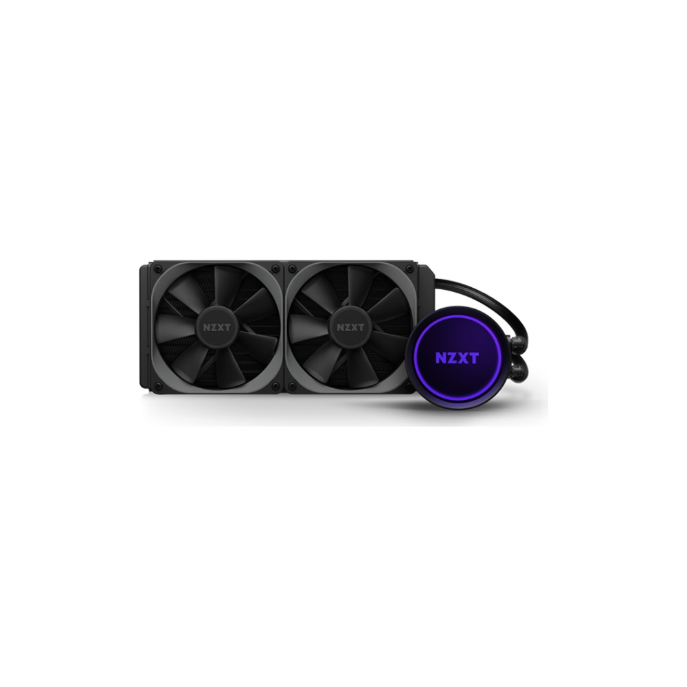 A large main feature product image of NZXT Kraken X53 240mm AIO Liquid CPU Cooler