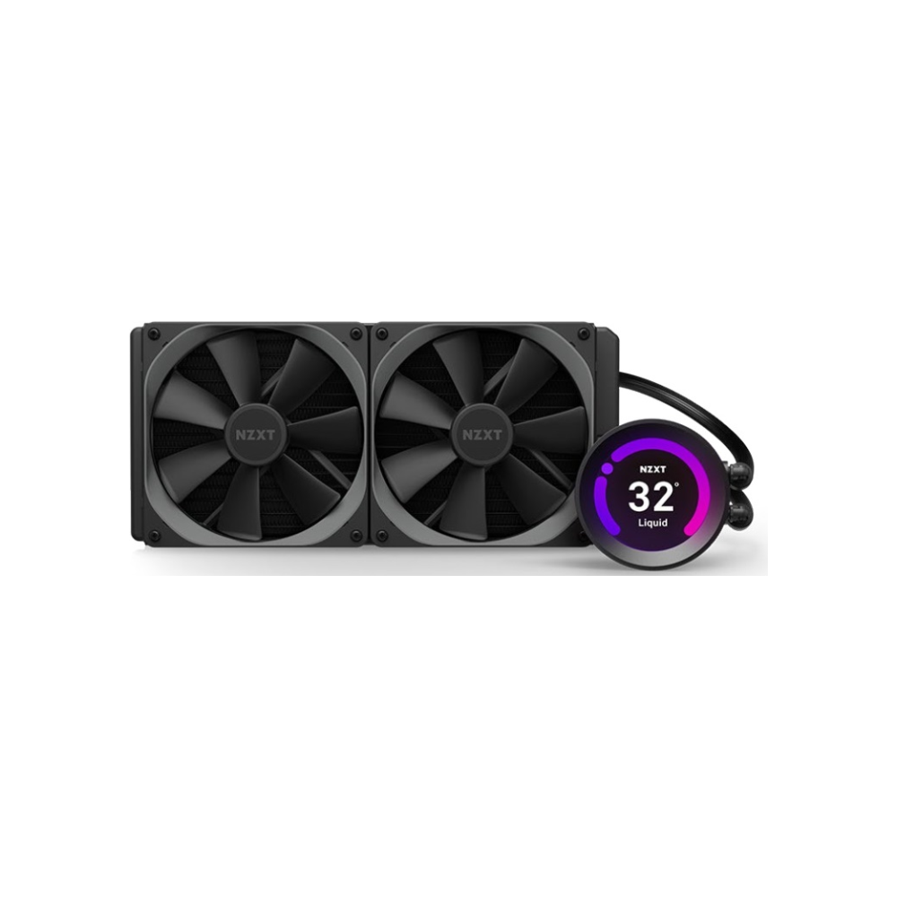 A large main feature product image of NZXT Kraken Z63 280mm AIO Liquid CPU Cooler