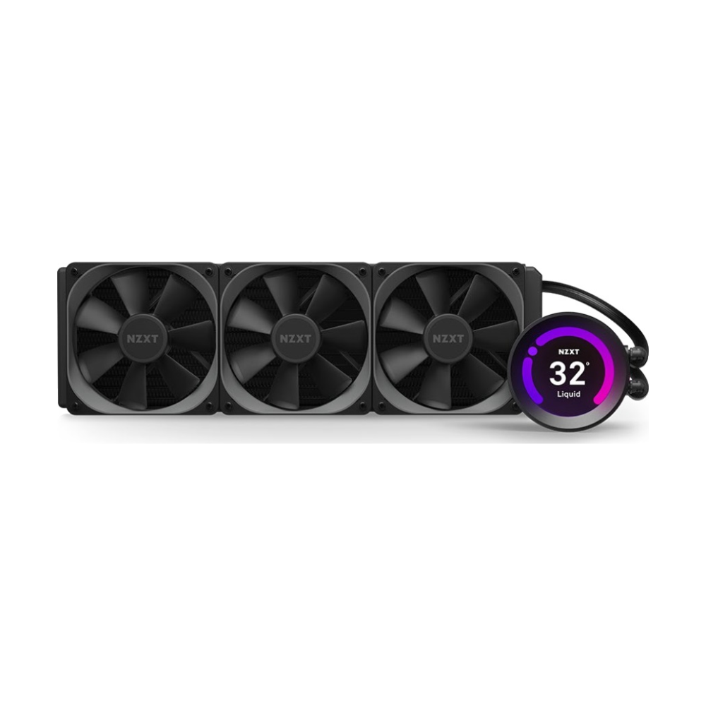 A large main feature product image of NZXT Kraken Z73 360mm AIO Liquid CPU Cooler