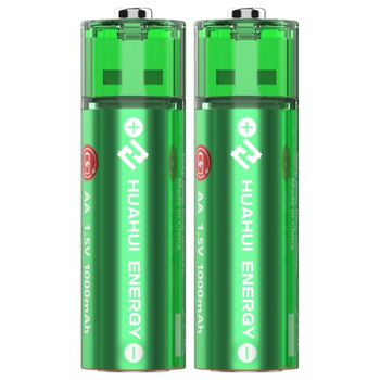 Product image of HUAHUI Two AA USB Rechargeable Lithium 1500mWh Battery Pack - Click for product page of HUAHUI Two AA USB Rechargeable Lithium 1500mWh Battery Pack