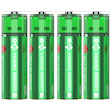 A product image of HUAHUI Four AA USB Rechargeable Lithium 1500mWh Battery Pack