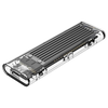 A product image of ORICO M.2 NVMe Type-C USB 3.1 SSD Enclosure - Clear