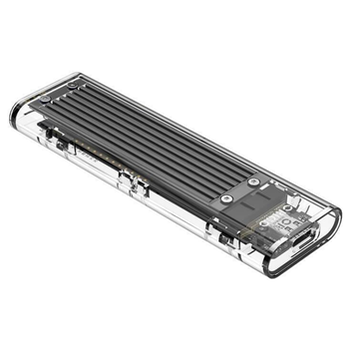 Product image of ORICO M.2 NVMe Type-C USB 3.1 SSD Enclosure - Clear - Click for product page of ORICO M.2 NVMe Type-C USB 3.1 SSD Enclosure - Clear