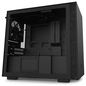 Product image of NZXT H210i Matte Black Smart mITX Case w/ Side Panel Window - Click for product page of NZXT H210i Matte Black Smart mITX Case w/ Side Panel Window