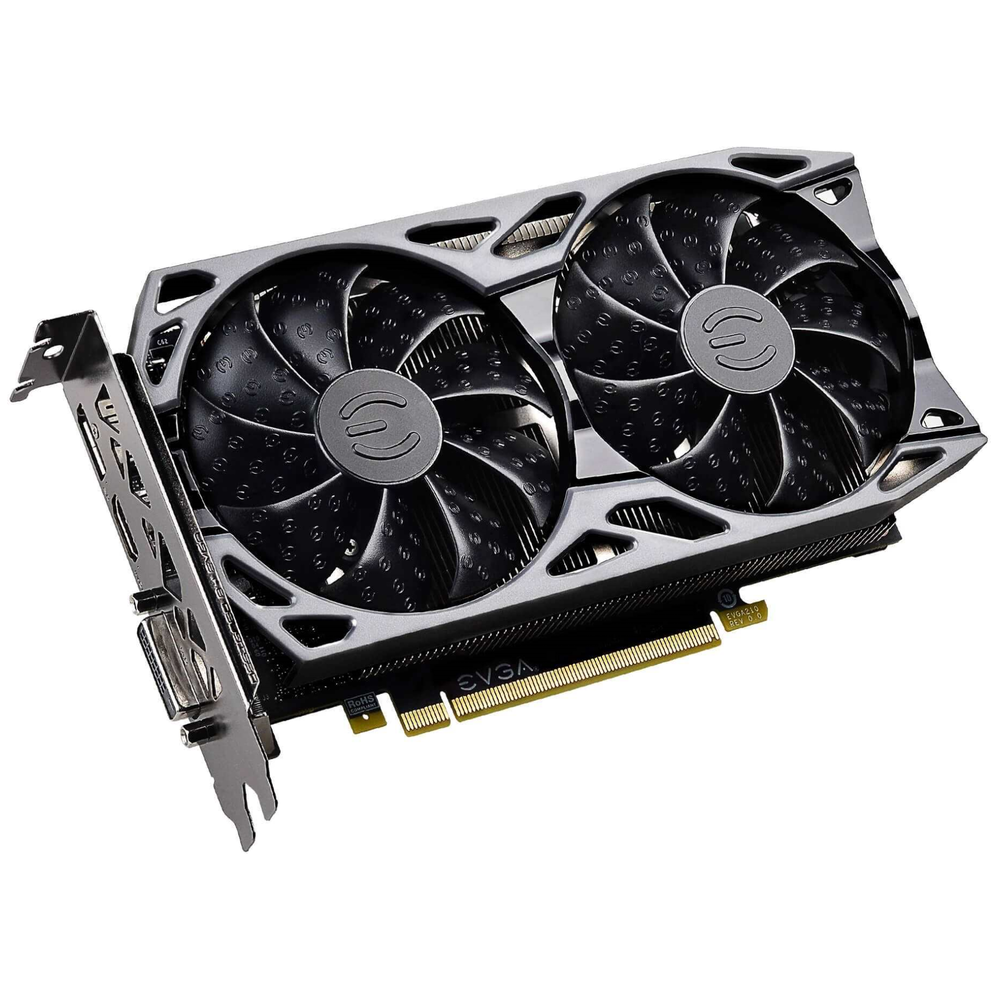 A large main feature product image of EVGA GeForce GTX1650 Super SC Ultra 4GB GDDR6