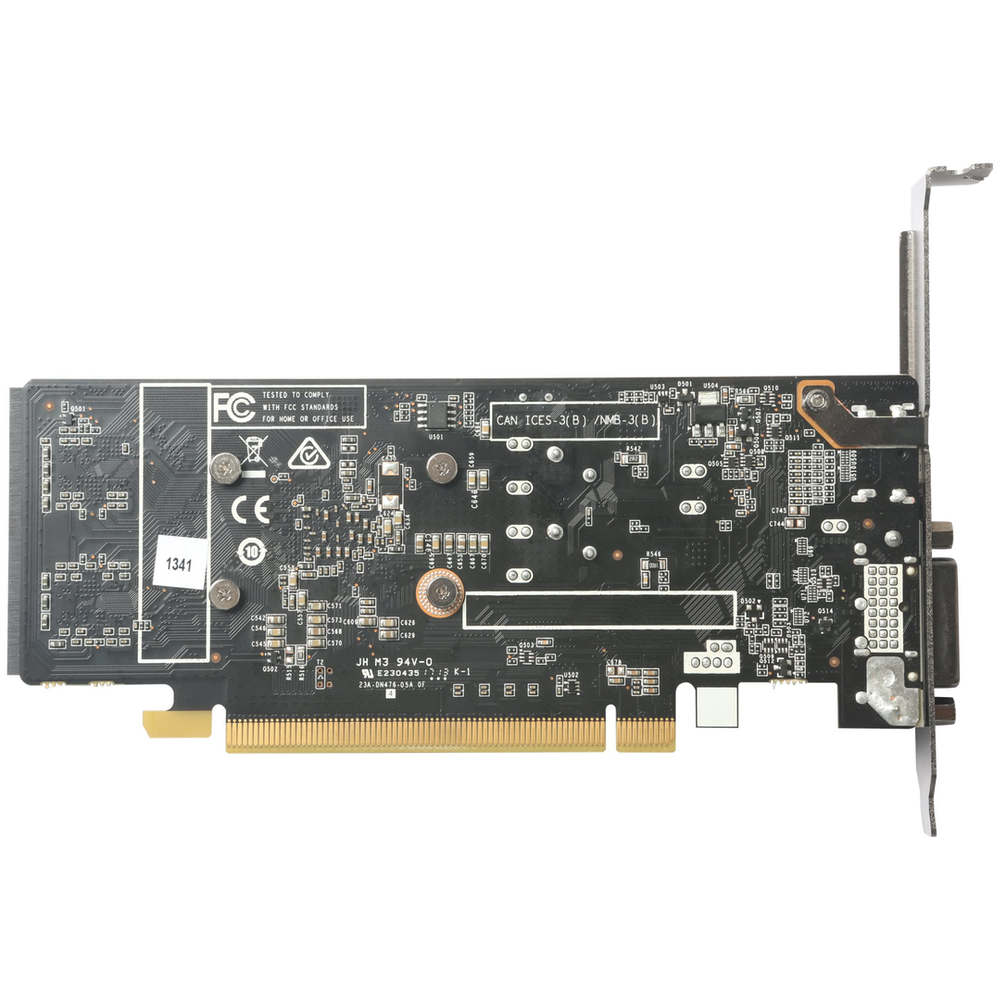 A large main feature product image of ZOTAC GeForce GT1030 2GB GDDR5