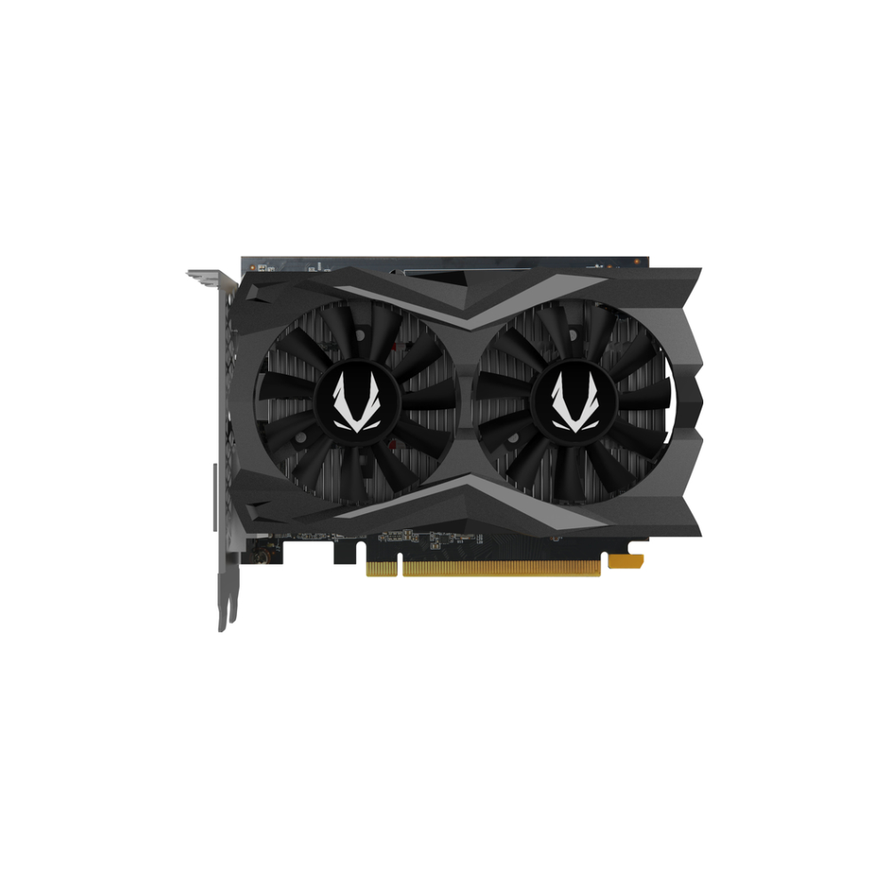 A large main feature product image of ZOTAC GAMING GeForce GTX1650 SUPER Twin Fan