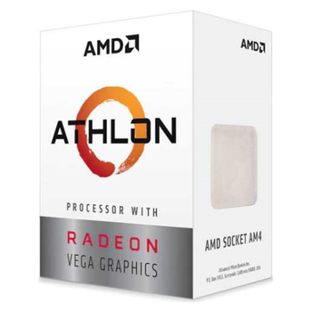 Product image of AMD Athlon 3000G 3.5Ghz 2 Core 4 Thread AM4 APU Retail Box - With Fan - Click for product page of AMD Athlon 3000G 3.5Ghz 2 Core 4 Thread AM4 APU Retail Box - With Fan