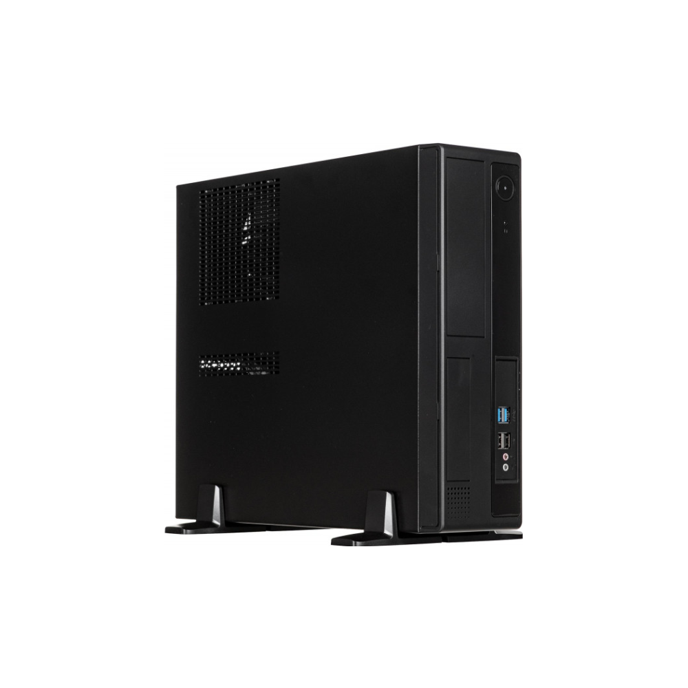 A large main feature product image of InWin BL641 Black mATX Desktop Chassis w/300W 80PLUS Gold PSU