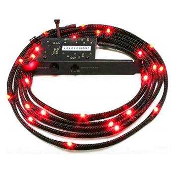 Product image of NZXT Sleeved Red LED Cable 100CM - Click for product page of NZXT Sleeved Red LED Cable 100CM