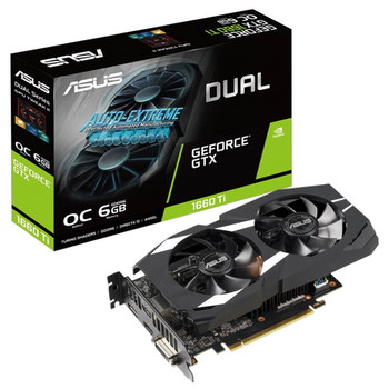 Product image of ASUS GeForce GTX1660Ti DUAL OC 6GB - Click for product page of ASUS GeForce GTX1660Ti DUAL OC 6GB
