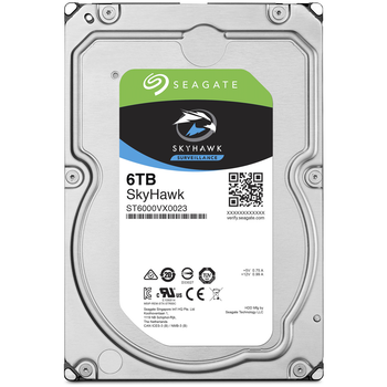 "Product image of Seagate SkyHawk ST6000VX0023 3.5"" 6TB Surveillance HDD - Click for product page of Seagate SkyHawk ST6000VX0023 3.5"" 6TB Surveillance HDD"