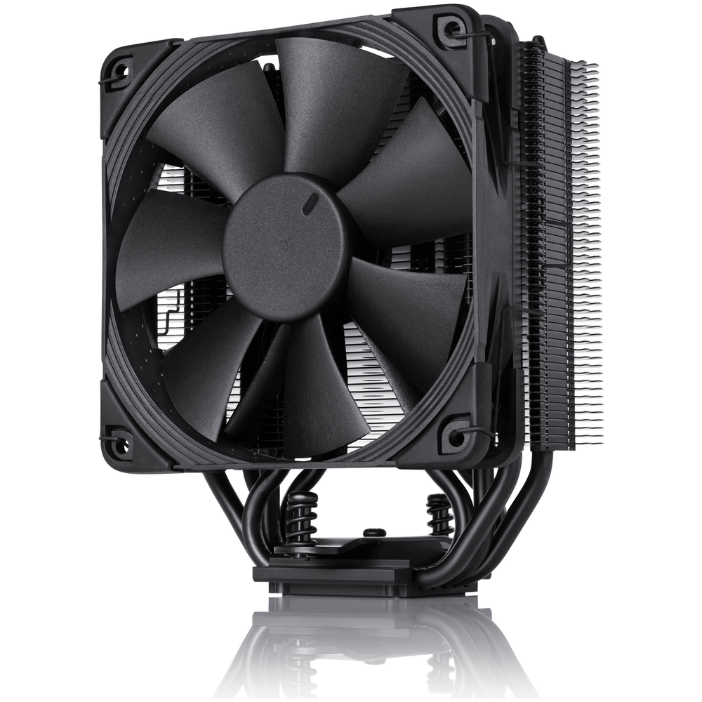 A large main feature product image of Noctua NH-U12S Chromax Black CPU Cooler
