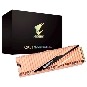 Product image of Gigabyte AORUS 500GB Gen 4 M.2 NVMe SSD - Click for product page of Gigabyte AORUS 500GB Gen 4 M.2 NVMe SSD