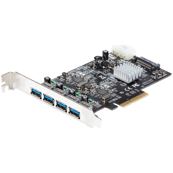 Product image of Startech 4-Port PCIe USB 3.1 10Gbps Card with 2 Dedicated Channels - Click for product page of Startech 4-Port PCIe USB 3.1 10Gbps Card with 2 Dedicated Channels