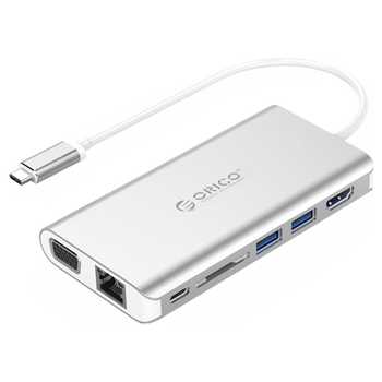Product image of ORICO 8 in 1 Type-C Multifunction Docking Station - Click for product page of ORICO 8 in 1 Type-C Multifunction Docking Station