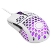A product image of Cooler Master MasterMouse MM711 Matte White RGB Lightweight Gaming Mouse
