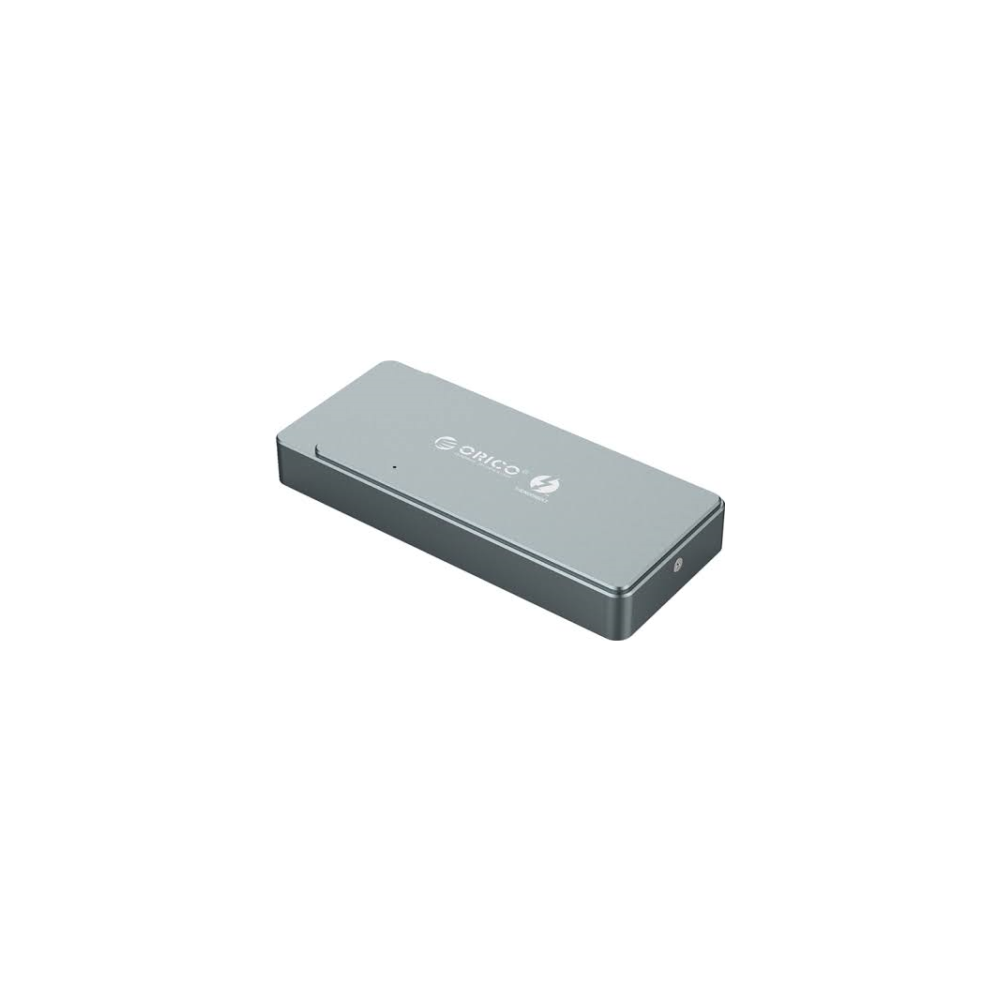 A large main feature product image of ORICO Thunderbolt 3 NVME M.2 SSD Enclosure