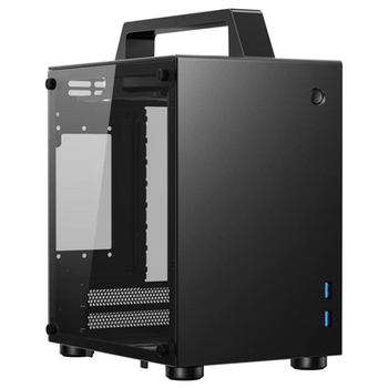 Product image of Jonsbo T8 Black Mini ITX Case w/Tempered Glass Side Panel - Click for product page of Jonsbo T8 Black Mini ITX Case w/Tempered Glass Side Panel