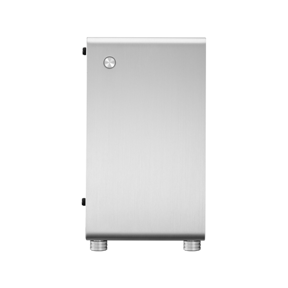A large main feature product image of Jonsbo U1 Plus Silver Mini ITX Case w/Tempered Glass Side Panel