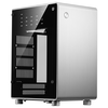 A product image of Jonsbo U1 Plus Silver Mini ITX Case w/Tempered Glass Side Panel