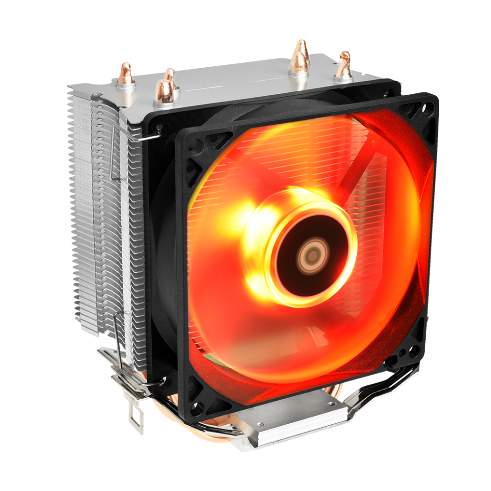 A large main feature product image of ID-COOLING Sweden Series SE-913-R PWM Red LED CPU Cooler