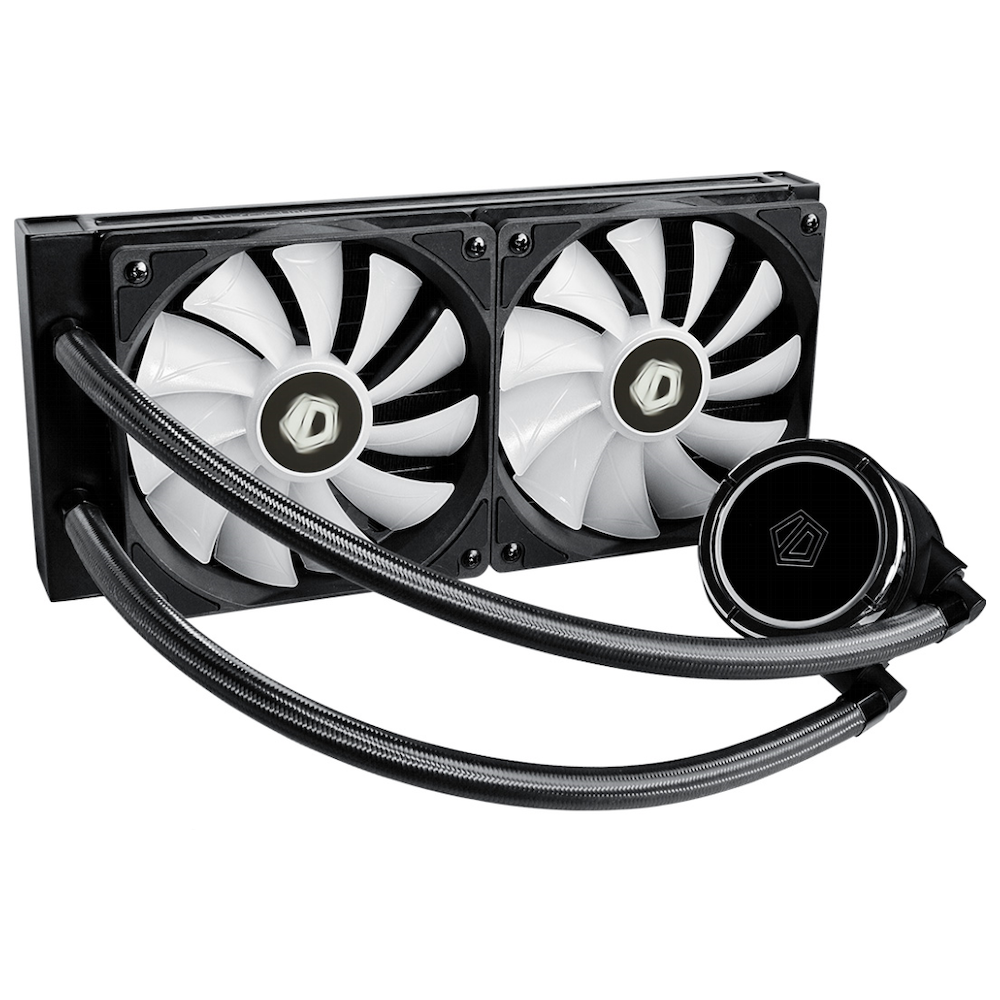 A large main feature product image of ID-COOLING ZoomFlow 240X Addressable RGB AIO CPU Liquid Cooler