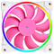 A small tile product image of ID-COOLING ZF Series 120mm Pink Addressable RGB LED Fan