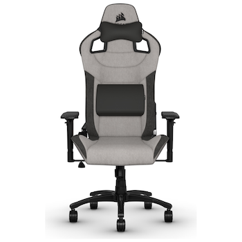 Product image of Corsair T3 RUSH Gaming Chair - Grey/Charcoal - Click for product page of Corsair T3 RUSH Gaming Chair - Grey/Charcoal