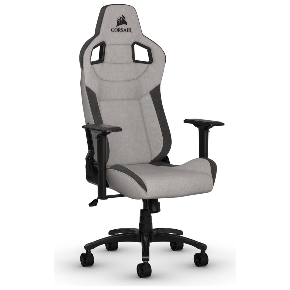 A large main feature product image of Corsair T3 RUSH Gaming Chair - Grey/Charcoal