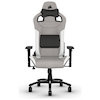 A product image of Corsair T3 RUSH Gaming Chair - Grey/White