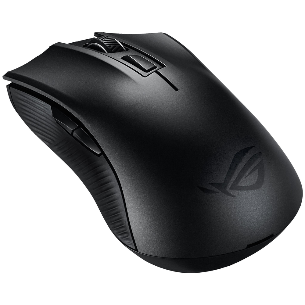 A large main feature product image of ASUS ROG Strix Carry Wireless Gaming Mouse