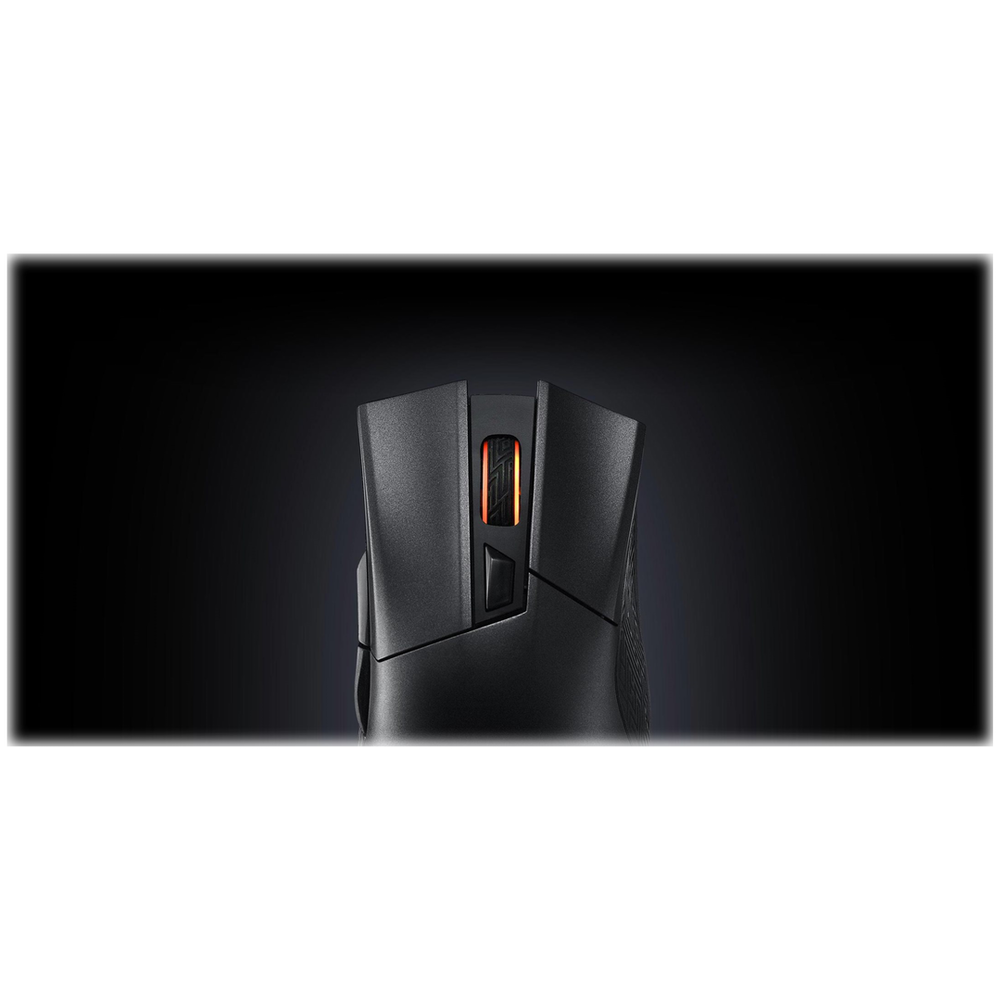 A large main feature product image of ASUS ROG Gladius II Wireless Gaming Mouse