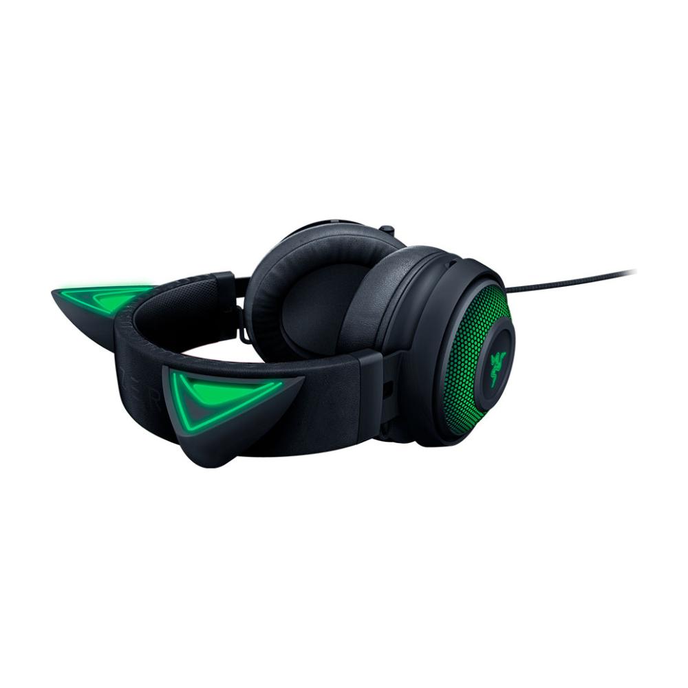 A large main feature product image of Razer Kraken Kitty - Chroma USB Gaming Headset - Black